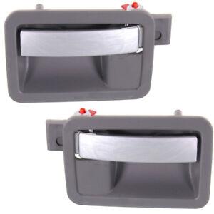 fits Hyundai Inside Interior Inner Door Handle Left Driver Rear Gray