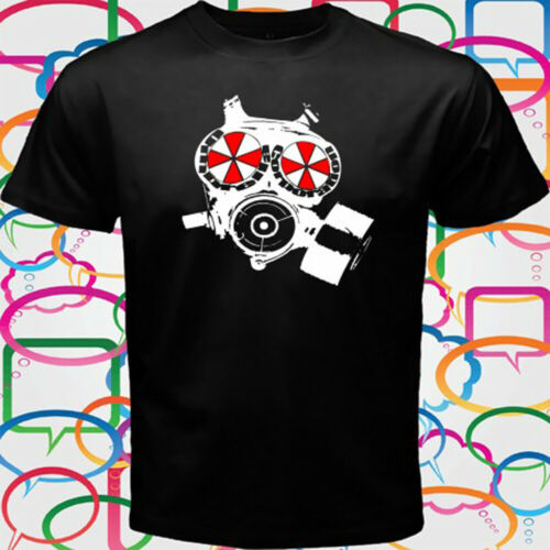 Umbrella Gasmaske Resident Evil Men/'s Black T-Shirt Size S to 3XL