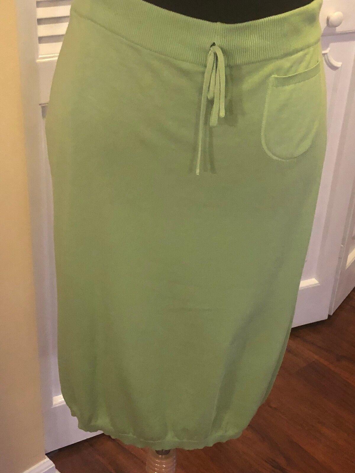 Malo Green Cotton Knit Skirt NWT - Size 46