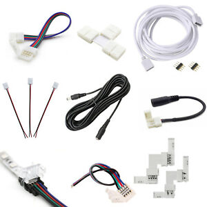 2Pin-4Pin-LED-Strip-RGB-Extension-Cable-Wire-Adapter-Clip-Connector-8mm-10mm