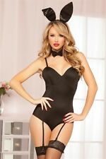 Bunny Bedroom Costume Set New Adult Halloween Cristmas Womens Black One Size