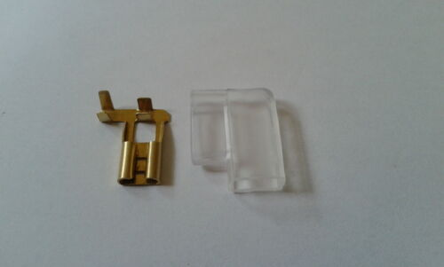 SPADE TERMINAL 6.3 mm female non insulated BRASS x 10