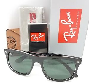 879a7907c9 NEW Rayban sunglasses RB4226 6052 71 56mm Matte Black Clear Green ...