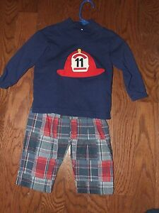 f9d30a9dc Image is loading Funtasia-Too-24m-Fireman-Shirt-Plaid-Pants-Outfit-