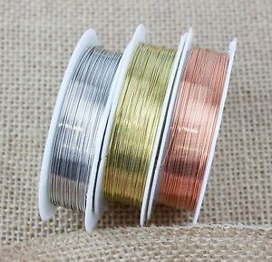 Silver-Gold-Copper-Plated-Beading-Wire-Craft-0-2mm-1mm-BUY-3-GET-3-FREE