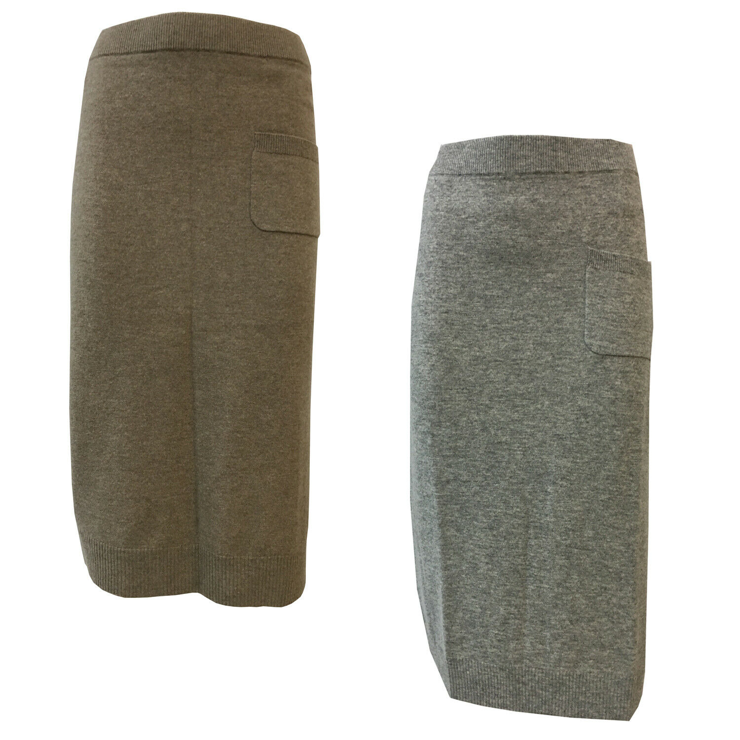 CA' VAGAN skirt woman wool with vent side mod. 13602 MADE IN MONGOLIA