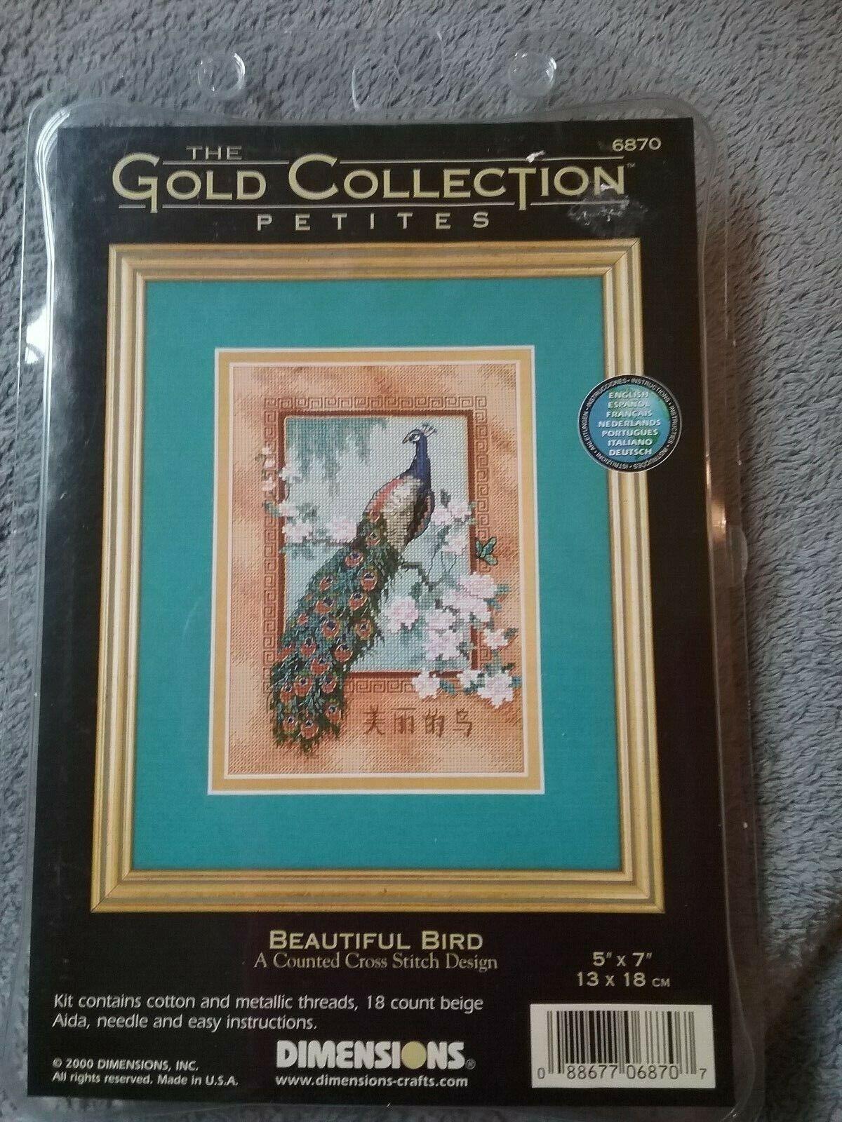 Cross Stitch Kit Gold Collection Petites Beautiful Bird Asian Peacock 6870 NEW