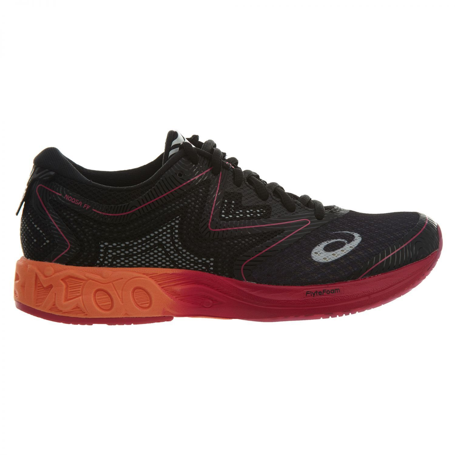 Asics Noosa FF Womens T772N-9030 Black Hot Orange Pink Running Shoes Comfortable New shoes for men and women, limited time discount