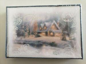 16 Christmas Cards /& ENVELOPES HALLMARK GLITTER SNOW CHURCH RELIGIOUS JESUS 5X7