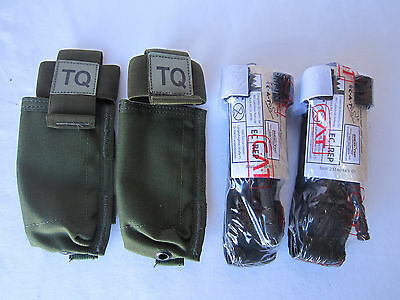 2X Genuine CAT NARP NAR Tourniquet W/ OD Green LBT MOLLE Carrier Pouch