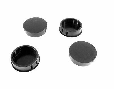7//8 Locking Sheet Metal Panel Plug Caps for Holes Round Black//White Plastic