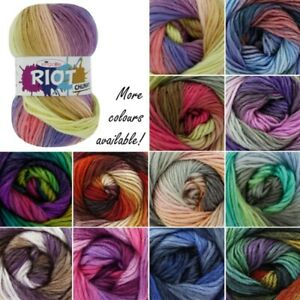 King-Cole-Riot-Chunky-Knitting-Yarn-Knit-100g-Ball-Acrylic-Wool-Mix