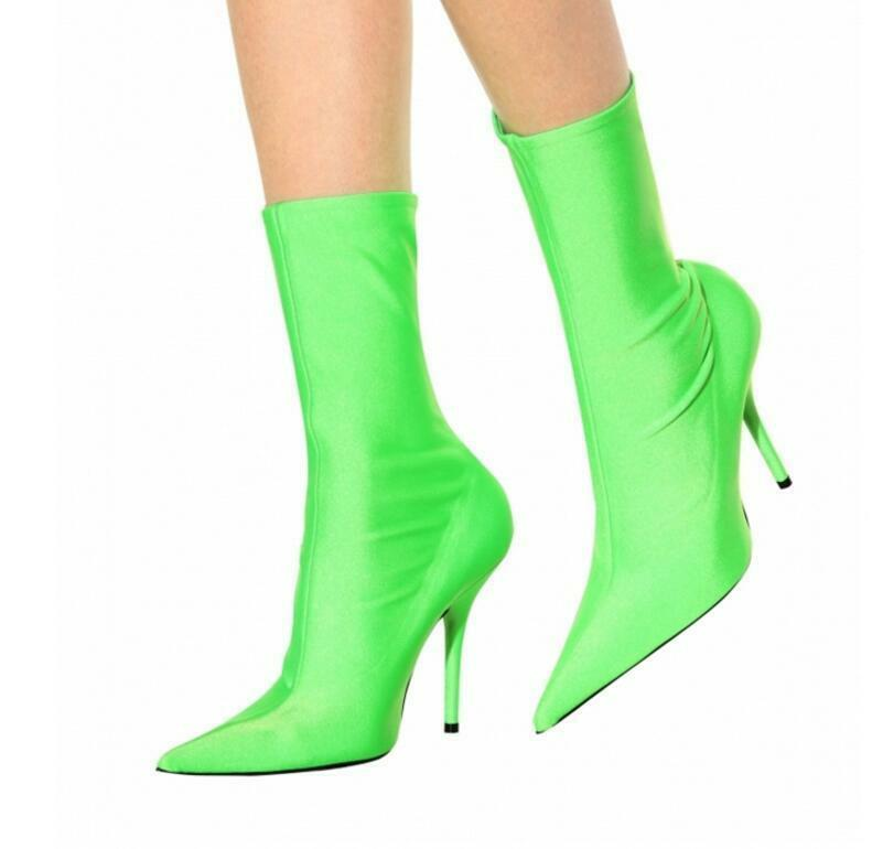 Women European Pointy Toe Party Party Party Clubwear Ankle Boots High Heel Stiletto shoes 5efd93