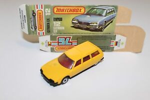 Vintage-Lesney-Matchbox-Superfast-N-12-D-CITROEN-CX-Rojo-Int-Caja-Original