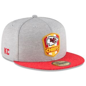 7042a953b Kansas City Chiefs New Era 2018 NFL Sideline Road Official 59FIFTY ...