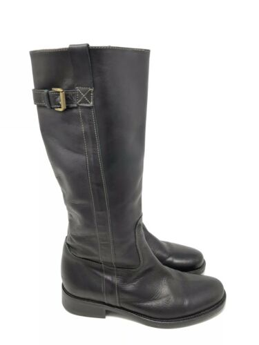 Pull En J 6 Femme Sur 5 Grande Taille Cuir Noir Brewster Crew Boucle Boots D'équitation l1cTKJF3