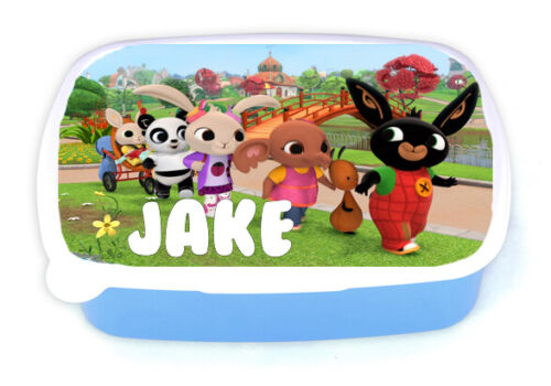 Add Any Name Boys Personalised Bing Children/'s Lunchbox School Picnic
