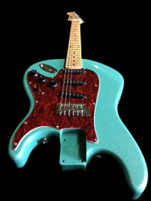 NEW 6 STRING FLIPPED ST STYLE REVERSE BACKWARDS SEAFOAM GREEN ELECTRIC GUITAR