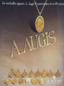 PUBLICITE-DE-PRESSE-1978-MEDAILLES-SIGNEES-A-AUGIS-SONT-EN-OR-ADVERTISING