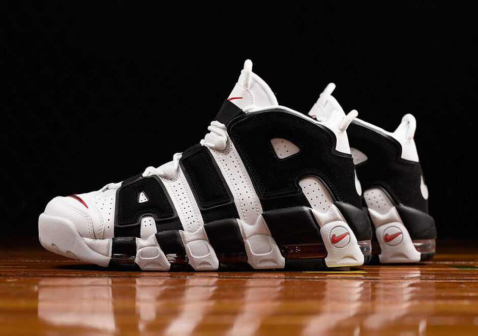 Nike AIr More Uptempo Mens 10.5 - 13 White Black Red Scottie Pippen 414962-105 Cheap and beautiful fashion
