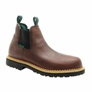 bca841af185 Details about Georgia Men's Giant High Romeo Waterproof Steel Toe Brown  Boots GR530