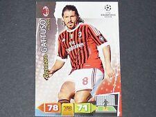 GATTUSO ROSSONERI MILAN AC UEFA PANINI CARD FOOTBALL CHAMPIONS LEAGUE 2011 2012