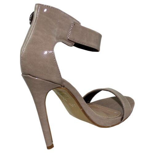 New women/'s shoes sandals high heel stilettos buckle platform taupe casual work