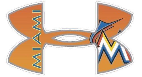 "Miami Marlins Baseball Under Armour Truck//Window Decal Sticker 11.5 x 7/"""
