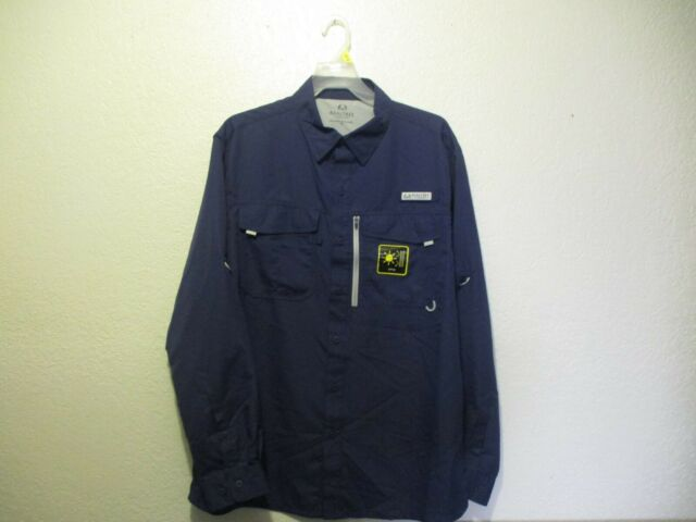 Details about  /Realtree Fishing Guide Shirt 2X//Navy-Patriot Blue//Long Sleeve//Button front NWT