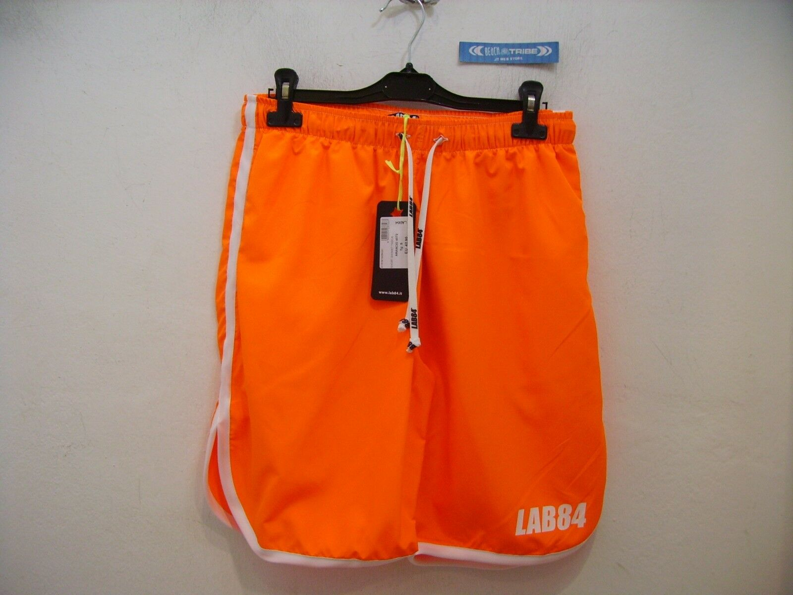 LAB84 SHORTS HERREN SHM1002SPECIAL BASKET TASCHE LANG Orange 4072 GR. S