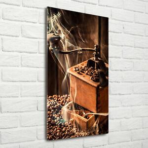 Wand-Bild-Kunstdruck-aus-Acryl-Glas-Hochformat-70x140-Kaffeebohnen