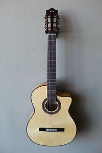 Used 2021 Cordoba GK Studio Acoustic/Electric Flamenco Blanca Guitar w Gig Bag