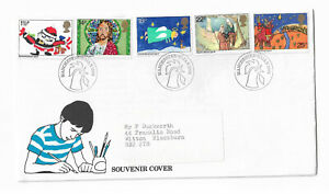 UK-Souvenir-Christmas-stamps-Cover-postmarked-1982-Manchester