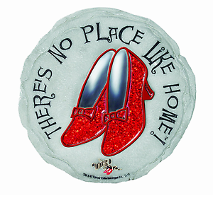 No Place Like Home Wizard Of Oz Ruby Slippers Stepping Stone Spoontiques