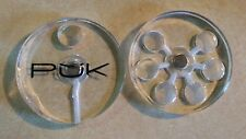 PUK PIPE Pyrex Glass Frosty (Clear) Hand Pipe / Travel Pipe smoking pipe
