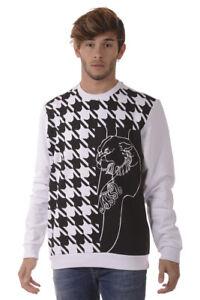 Cotone 3 Sweatshirt B7gqa7fa Felpa Versace Hoodie Uomo Jeans Bianco 76qx4wqan
