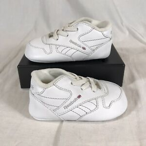 Classic Reebok Baby Leather Crib Shoes