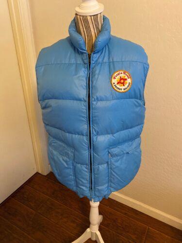 Vintage 1970's Frostline Kit Blue Puffer Vest Fies