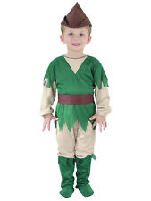BOYS GIRLS TODDLER  ROBIN HOOD PETER PAN FANCY DRESS COSTUME FITS 2 - 4 YEARS
