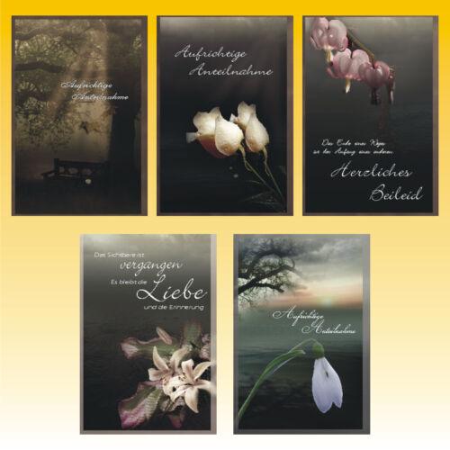 50 Trauerkarten Trauerkarte Trauer Beileidskarten Kondolenzkarten 816510 HI