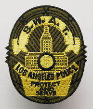 """US POLICE """"SWAT TEAM"""" Shield - Iron-On Embroidered Patch - MIX 'N' MATCH - #2N09"""