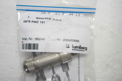 2 NEW LUMBERG 0976 PMC 101 CONNECTOR 0976PMC101