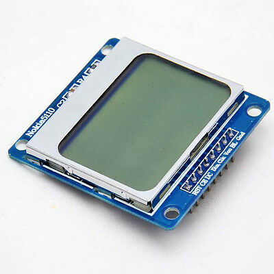 84x48 Pixel LCD Module Blue Backlight Adapter LED PCB For Nokia 5110 Arduino