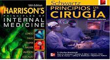 principios de medicina interna +  principios de cirugia 2 libros electronicos