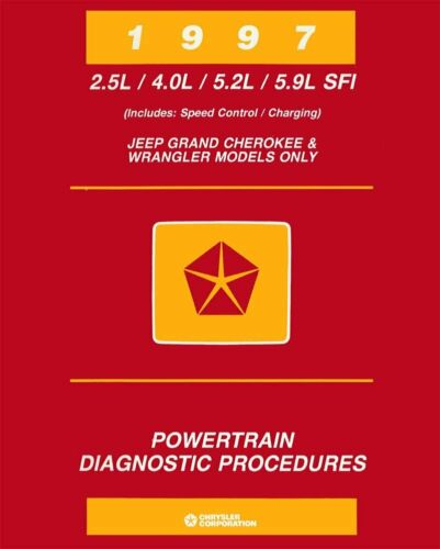 OEM Repair Maintenance Shop Manual Jeep Grand Cherokee//Wrangler Powertrain 1997