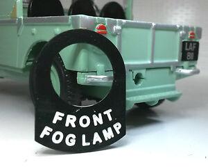 Austin-Healey-Frogeye-Bugeye-Sprite-Interruptor-Placa-placa-pegatina