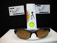 Finz Polarized Golf Sunglasses Black/amber Lens + Nike Rzn White Yellow