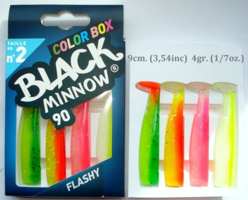 Color Box FIIISH BLACK MINNOW №1,№2 /& №3 Special Selection Natural /& Flashy