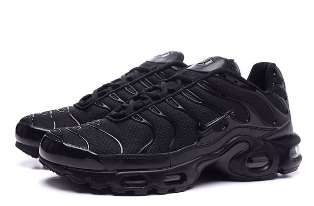 catch 3e4c0 65b67 NIKE AIR MAX PLUS TN TUNED BLACK ALL SIZES BRAND NEW ADULTS & KIDS  604133-050