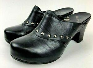 dansko ryder studded clog shoe womens 42 black leather